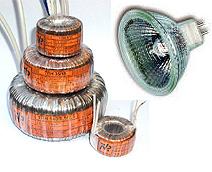 Трансформатори тороїдальні для живлення галогенних ламп на 12 В