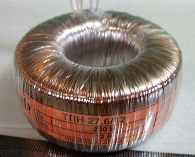 Тороїдальний трансформатор для живлення галогенних ламп на 12 вольт потужністю 30 ватт